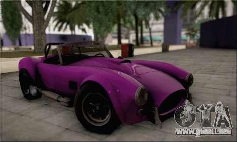 Shelby Cobra V10 TT Black Revel para la visión correcta GTA San Andreas