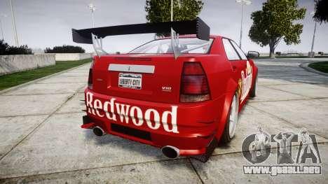 Albany Presidente Racer [retexture] Redwood para GTA 4 Vista posterior izquierda