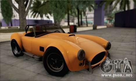 Shelby Cobra V10 TT Black Revel para GTA San Andreas vista hacia atrás