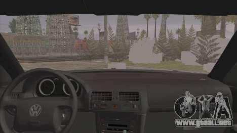 Volkswagen Golf 4 R36 para GTA San Andreas vista posterior izquierda