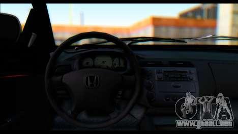 Honda Civic VteC para GTA San Andreas vista posterior izquierda