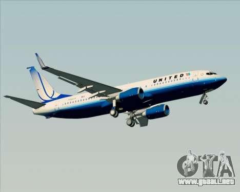 Boeing 737-800 United Airlines para las ruedas de GTA San Andreas