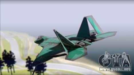 F-22A Raptor Unpainted Factory Texture para GTA San Andreas left