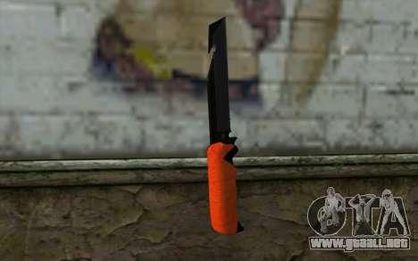 Knife from Battlefield 3 para GTA San Andreas segunda pantalla