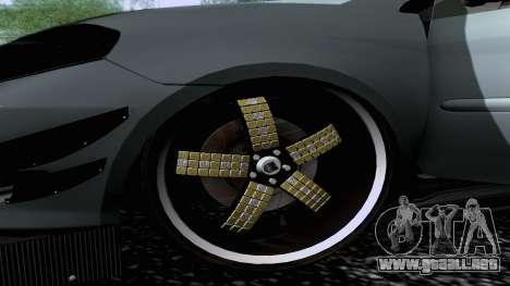 Toyota Vios Extreme Edition para GTA San Andreas vista posterior izquierda
