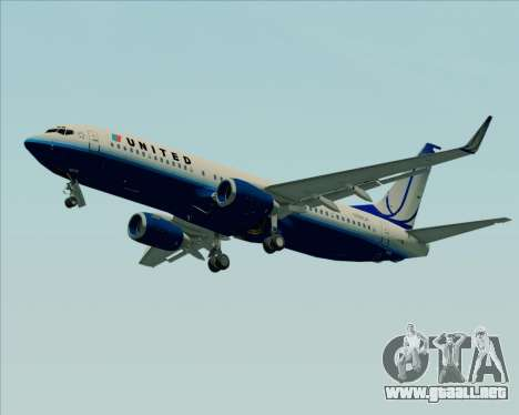 Boeing 737-800 United Airlines para GTA San Andreas left