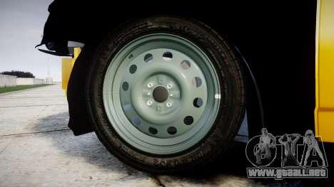VAZ-Lada 2170 Priora de hobo para GTA 4 vista hacia atrás