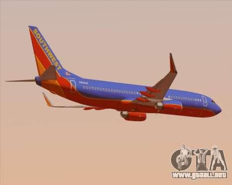 Boeing 737-800 Southwest Airlines para la visión correcta GTA San Andreas