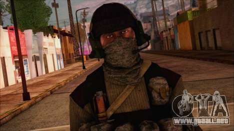 Recon from Battlefield 3 para GTA San Andreas tercera pantalla