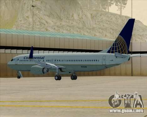 Boeing 737-800 Continental Airlines para vista inferior GTA San Andreas