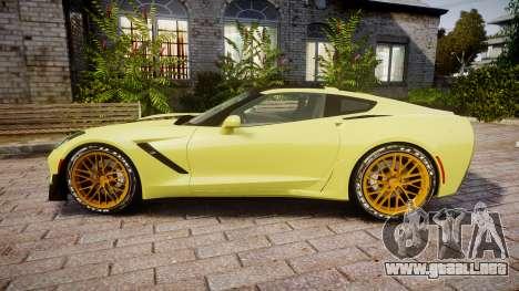 Chevrolet Corvette Z06 2015 TireGY para GTA 4 left