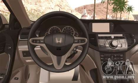 Honda Accord para GTA San Andreas vista posterior izquierda