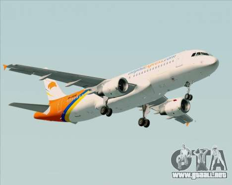 Airbus A320-200 Airphil Express para las ruedas de GTA San Andreas