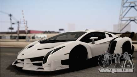 Lamborghini Veneno LP750-4 White Black 2014 HQLM para GTA San Andreas