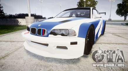 BMW M3 E46 GTR Most Wanted plate Liberty City para GTA 4