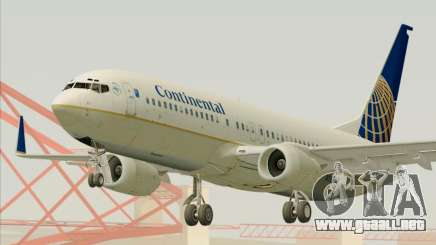 Boeing 737-800 Continental Airlines para GTA San Andreas