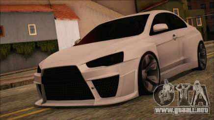 Mitsubishi Lancer Evolution X HD SHDru tuning v1 para GTA San Andreas