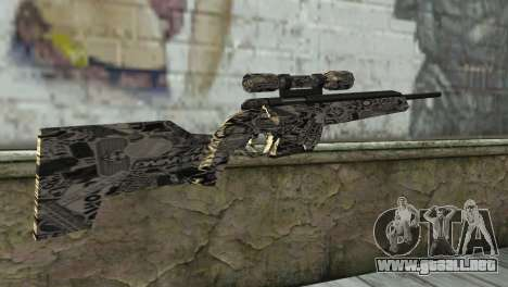 Nuevo rifle de francotirador para GTA San Andreas segunda pantalla