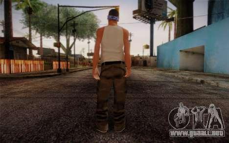 New Fam Skin 2 para GTA San Andreas segunda pantalla