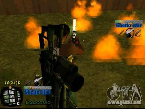C-HUD Ghetto Star para GTA San Andreas tercera pantalla