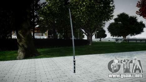 Espada Samurai para GTA 4 segundos de pantalla