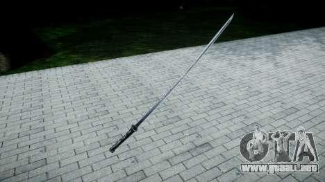 Espada Samurai para GTA 4