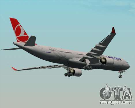 Airbus A330-300 Turkish Airlines para visión interna GTA San Andreas
