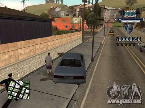 Police HUD para GTA San Andreas sucesivamente de pantalla