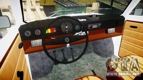 Trabant 601 deluxe 1981 Police para GTA 4 vista hacia atrás