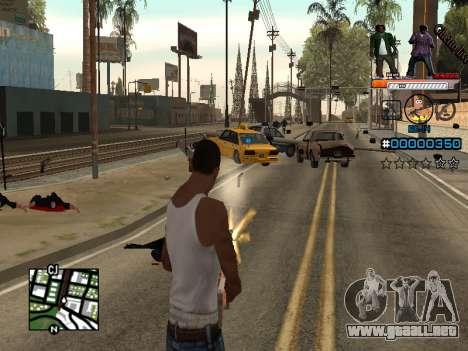 C-HUD Ghetto Live para GTA San Andreas tercera pantalla