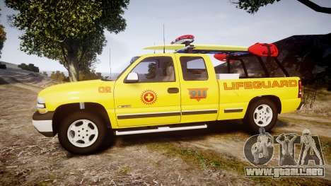 Chevrolet Silverado Lifeguard Beach [ELS] para GTA 4 left
