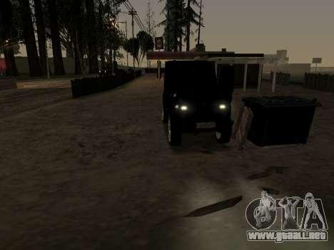 UAZ 469 para visión interna GTA San Andreas