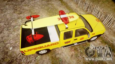 Chevrolet Silverado Lifeguard Beach [ELS] para GTA 4 visión correcta