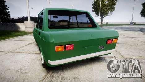 Fiat 128 Berlina para GTA 4 Vista posterior izquierda
