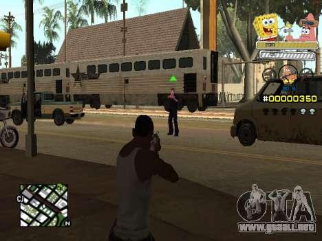 C-HUD Sponge Bob para GTA San Andreas tercera pantalla