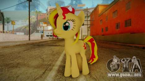 Summer Shimmer from My Little Pony para GTA San Andreas