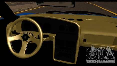 Bugatti EB110SS para GTA San Andreas vista posterior izquierda