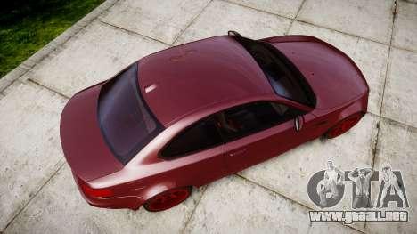 BMW 1M 2011 para GTA 4 visión correcta