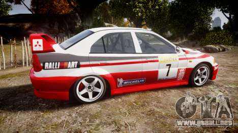 Mitsubishi Lancer Evolution VI Rally Edition para GTA 4 left
