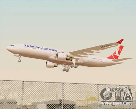 Airbus A330-300 Turkish Airlines para las ruedas de GTA San Andreas