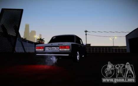 VAZ 2107 para vista inferior GTA San Andreas