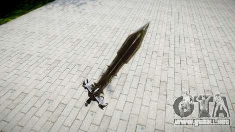 La espada, el caballero Negro- para GTA 4 segundos de pantalla
