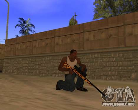 Jaguar Weapon pack para GTA San Andreas quinta pantalla