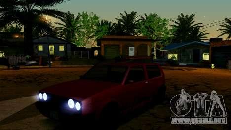 ENB para los débiles y medianas PC SA:MP para GTA San Andreas décimo de pantalla