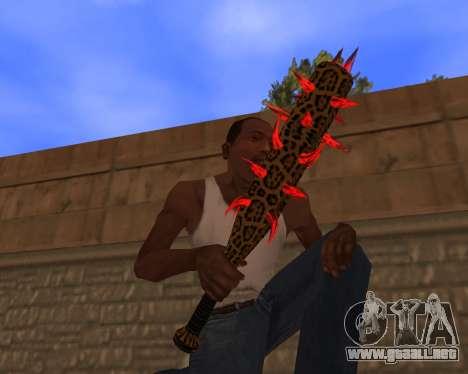 Jaguar Weapon pack para GTA San Andreas sucesivamente de pantalla
