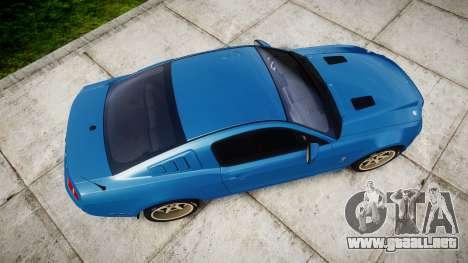 Ford Mustang Shelby GT500 2013 para GTA 4 visión correcta