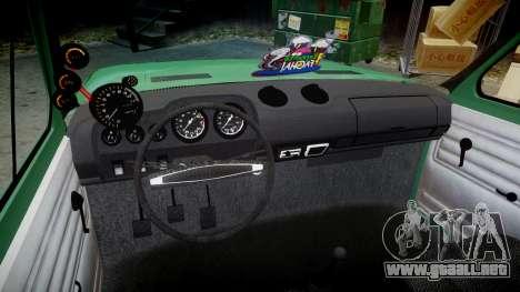 Fiat 128 Berlina para GTA 4 vista hacia atrás