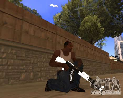 White Chrome Gun Pack para GTA San Andreas quinta pantalla