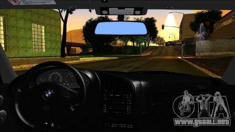 BMW M3 E36 UUTuning para GTA San Andreas vista posterior izquierda