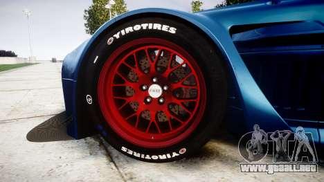 Aston Martin V12 Vantage GT3 2012 para GTA 4 vista hacia atrás